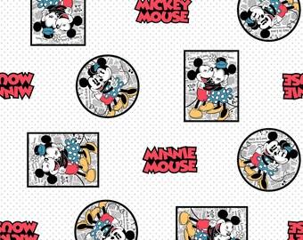 Disney Mickey Vintage Mickey & Minnie Framed White