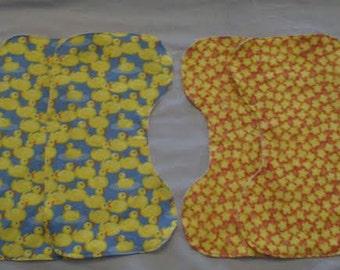 Set of 4 Shoulder Burp Cloths - Ducks