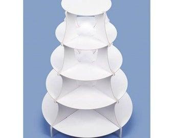Victoria Lynn™ 5-Tiered Dessert Tower - Round - White - 15 x 20 inches
