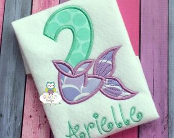 Mermaid Theme Girl Birthday Shirt or Bodysuit - Underwater, Mermaid Birthday Party