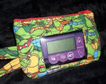 Window Insulin Pump Pouch Case with Teenage Mutant Ninja Turtles for Type 1 Diabetes Minimed, Animas, Tslim