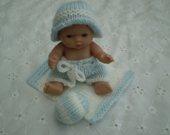 "Hand knitted 5"" Itty Bitty Berenguer doll clothes"