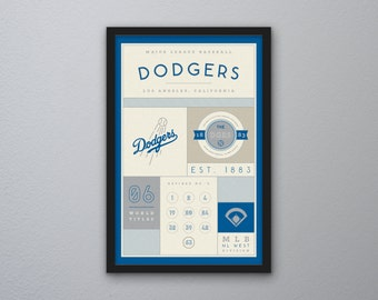 Los Angeles Dodgers Stats Print