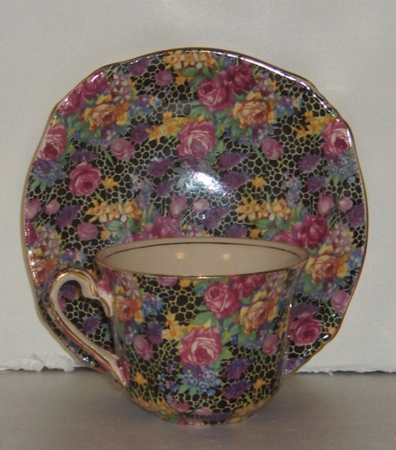 Royal Winton Hazel Chintz Cup and Saucer Grimwades Made in
