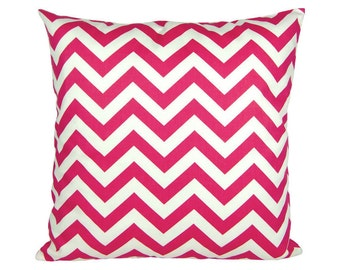 Cushion cover pink white zigzag CHEVRON 60 x 60 cm