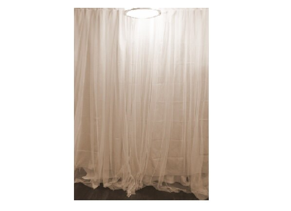 One Custom Blackout Curtain White Sheer Net Lace Panel Bed
