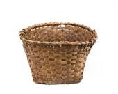 Large French Split Wood Hand Made Basket
