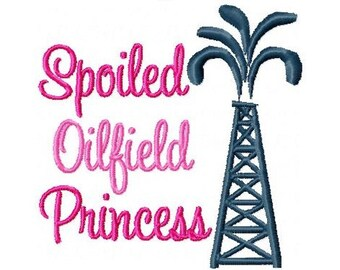 Oilfield Princess Embroidery Design -INSTANT DOWNLOAD-