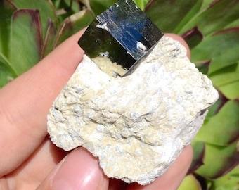 """Pyrite in Matrix 59g 2""""x2.25"""" Pm79"""