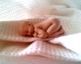 Precious Nude Unfinished Baby Cake Topper