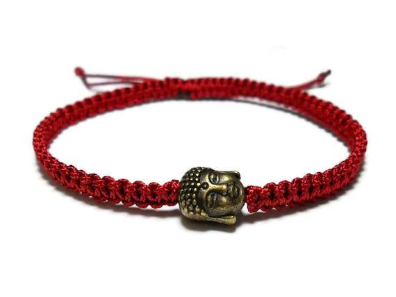 Red String Bracelet, bracelet de Bouddha, bracelet Bouddha, Kabbale bracelet, bracelet cordon