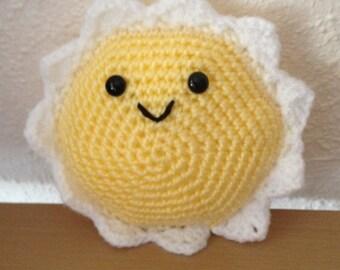 Amigurumi sun Soleil plush toy plushie grab toy