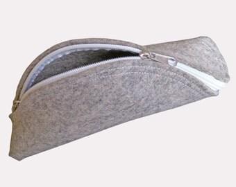 The Taco Clutch - Felt or leather zip clutch purse PDF sewing pattern