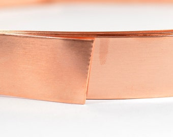 Copper Bezel Wire - 3/4 Inch - 24 Gauge - Choose Your Length