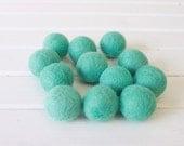 Aqua Felt Balls 12 count
