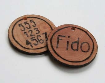 Wooden Dog ID Tag