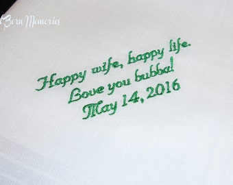 Personalized Handkerchief 15 Words or Less - Personalized Handkerchief. FREE Gift Box