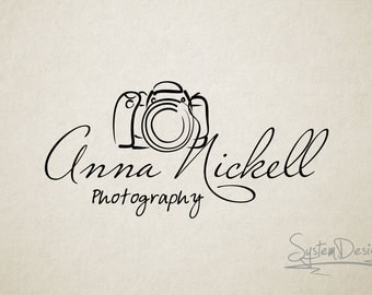 Camera logo. Custom logo. watermark. photographer logo