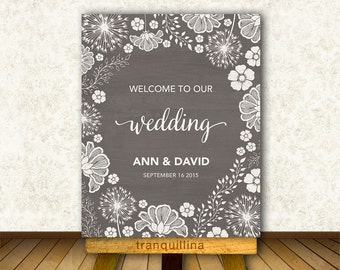 Wedding Welcome Sign Printable, Rustic Welcome Sign, Bridal Shower Welcome Sign, Printable Welcome Sign, Wedding Reception Sign, Digital