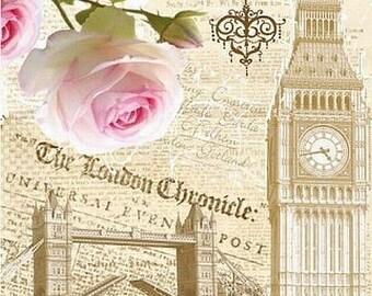 Vintage Style Decoupage Paper Napkins Serviettes - London
