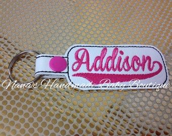 Addison - In The Hoop - Snap/Rivet Key Fob - DIGITAL EMBROIDERY DESIGN