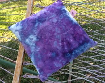 Ice dye tye dye throw pillow cover.