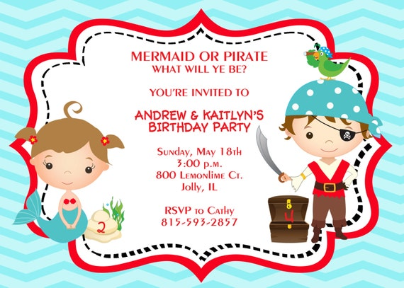 Pirate Et Invitation De Sir 232 Ne Sir 232 Ne Et Pirate Invite