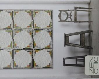Moon Lights Quilt Pattern - Zen Chic - Brigitte Heitland - MLQP - Reel Time - Modern - Honey Bun - Solid Jelly Roll - Log Cabin - Beginner