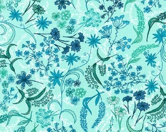 SALE!! 1/2 Yard - In the Bloom - AVW-15252-247 - Cornflower - Valori Wells - Robert Kaufman Fabrics - Fabric Yardage