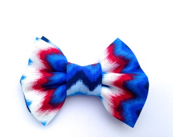 Red and blue hair bow, patriotic hair bow, July 4th hair bow, hair bow, blue hair bow, red hair bow, white hair bow, multicolor bow