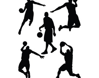 Basketball wall decal, basketball decor, basketball decal, basketball decorations, basketball wall art, basketball wall decor, D00410.