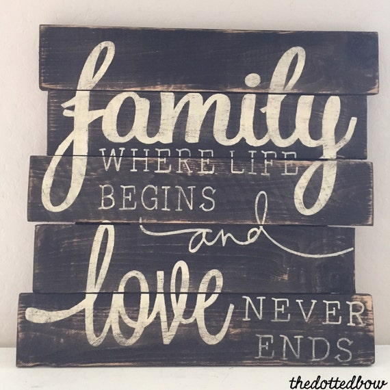 Family Where Life Begins Amp Love Never Ends Wood By
