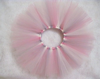 Baby Tutu Photo Prop In Size Newborn Rosy Mauve Ivory Grey