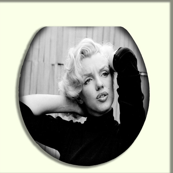marilyn monroe with full lips toilet seat by citydwellersboutique. Black Bedroom Furniture Sets. Home Design Ideas