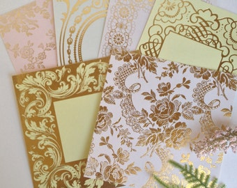 Anna Griffin Foil Stamped Card Layers Set 5