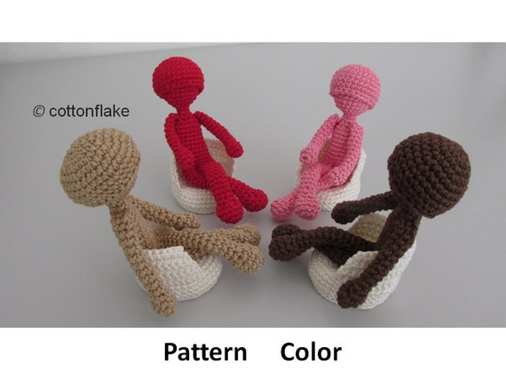 Crochet Amigurumi Doll Body : Pattern Color , doll amigurumi crochet, human body ...