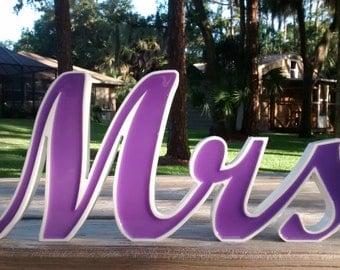 Mr and Mr  Wedding Sign, Lavender, New Wedding Item,Freestanding, Sweetheart Table Sign,  Wedding Decor, Wedding Sign
