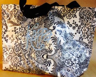 Kappa Kappa Gamma Oil-cloth Tote Bag