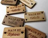 50 - .5 x 1 Custom Wood Tags - Knitting Tags - Wood Tags