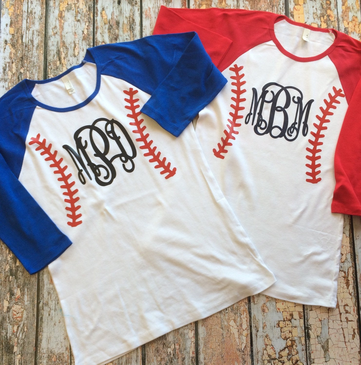 Baseball monogram raglan shirt 3 4 sleeve custom baseball for Custom raglan baseball shirt