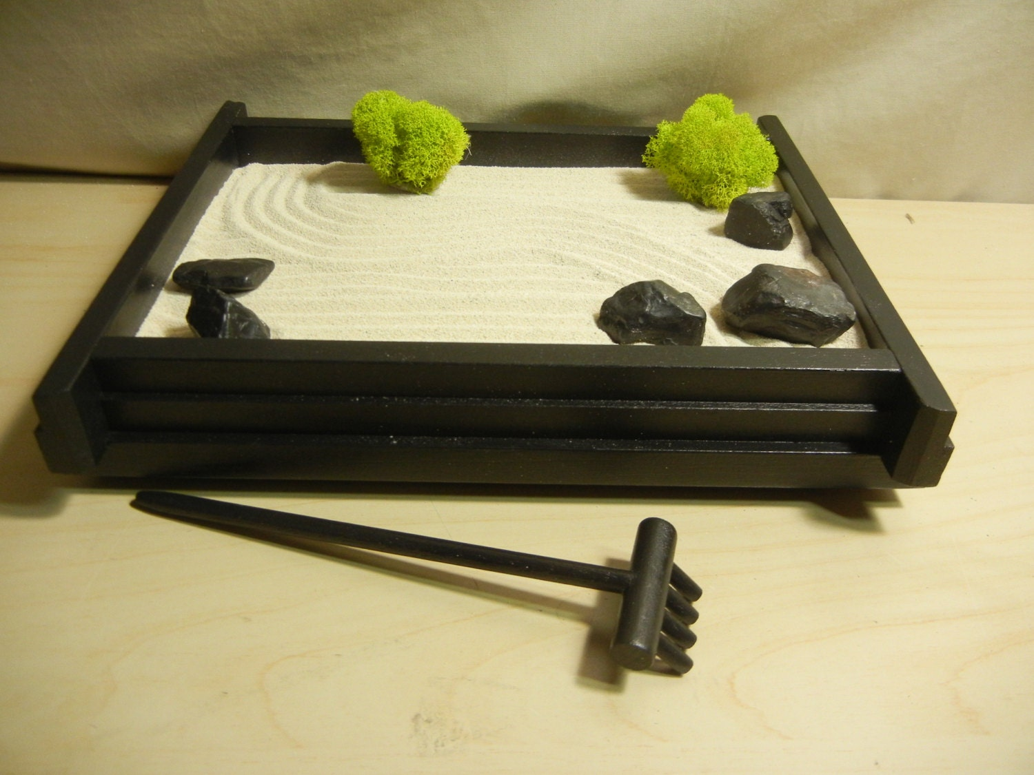 S01 small desk or table top zen garden diy kit for Table zen garden