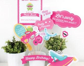 Printable Princess photo booth props