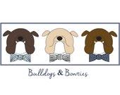 Bulldogs & Bowties: A Custom Design for katie M.