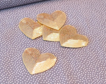 Heart gold patch