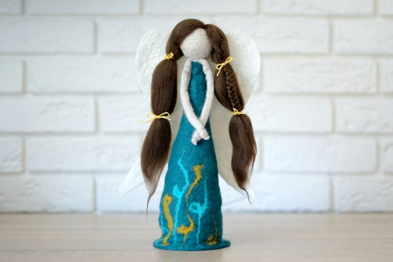 Collectible angel figurine perfect as a gift for her felted felt