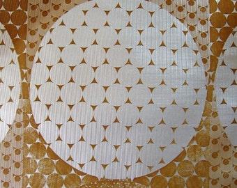 1970s GEOMOD Planet METALLIC MOON Brown Hues Vintage 60s 70s Wallpaper