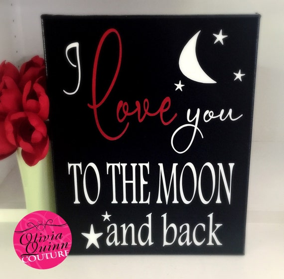 I Love You Quotes: Items Similar To I Love You To The Moon And Back Canvas