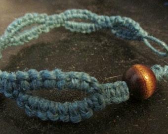Turquoise Hemp Loopy Bracelet