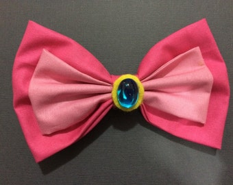 Princess Peach Inspired Hairbow or Bow Tie