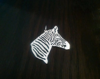 Zebra  saw pierced Sterling Silver Pendant